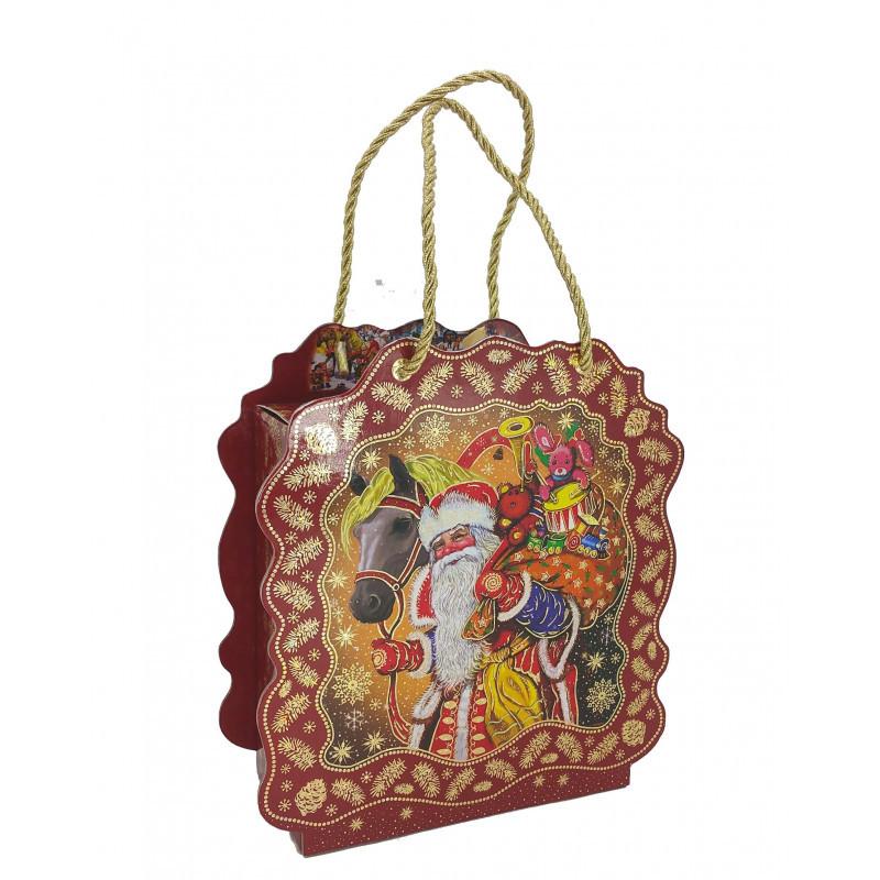 Новогодний сладкий подарок коробка Дед Мороз