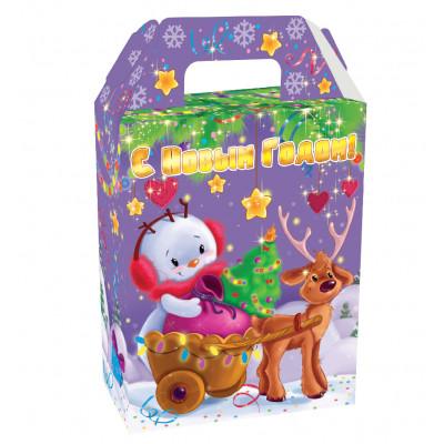 Подарок Снеговик с 3Д эффектом 600 гр