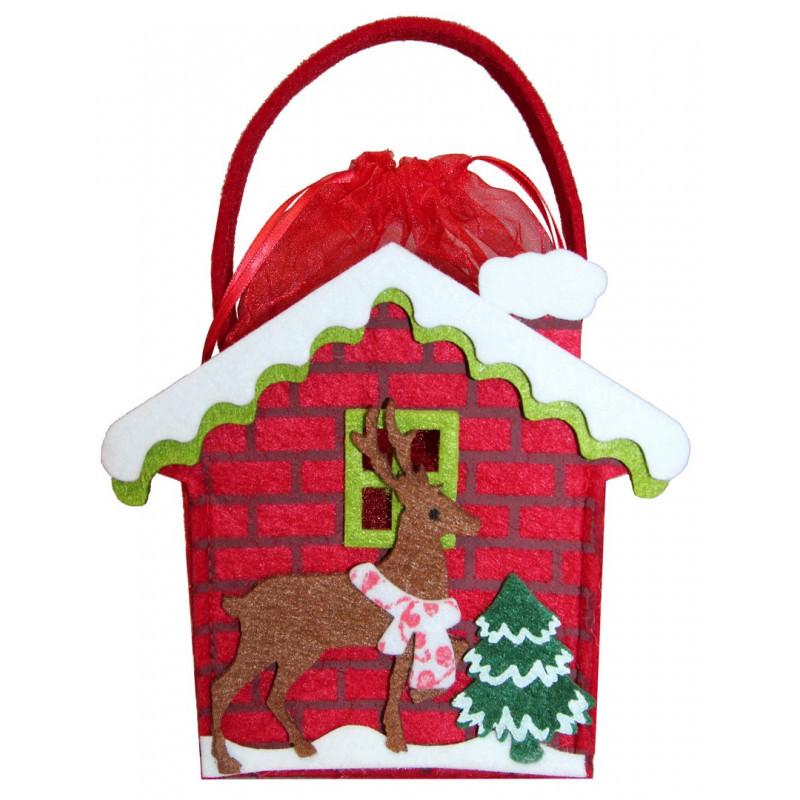 Сладкий новогодний подарок Домик с оленем