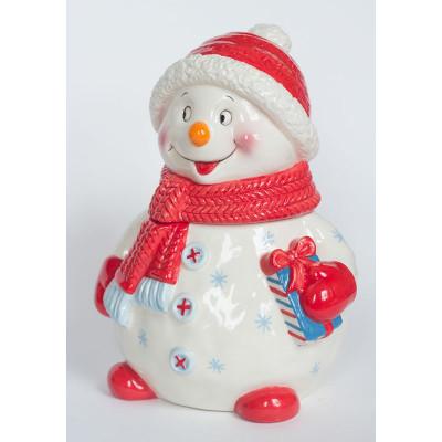 Сладкий новогодний подарок Снеговик