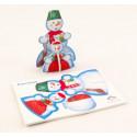 Новогодний сувенир Снеговик
