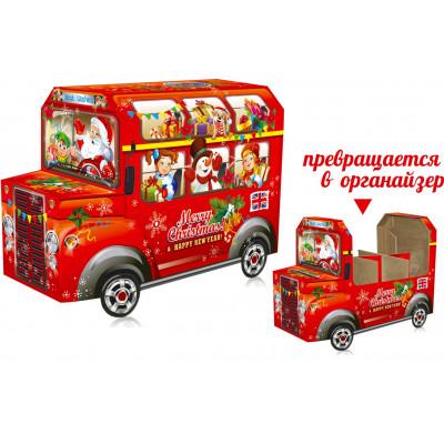 Новогодняя упаковка автобус Лондон
