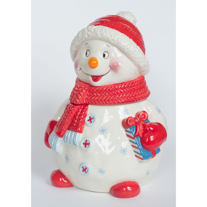 Новогодняя упаковка Снеговик