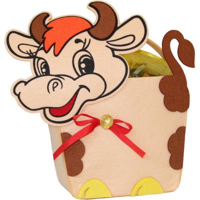 Сладкий новогодний подарок сумка Бычок