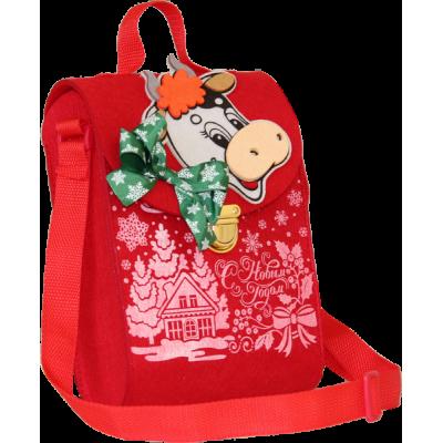 Новогодний сладкий подарок портфель Бычок