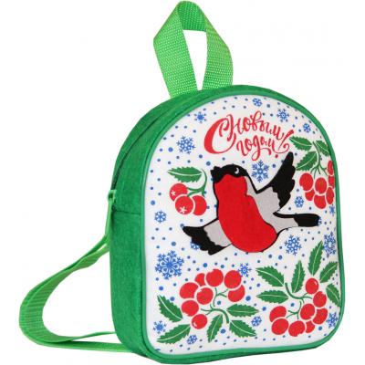 Сладкий новогодний подарок рюкзак Снегири