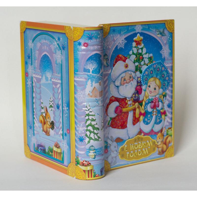Упаковка для новогоднего подарка Дед Мороз и снегурочка