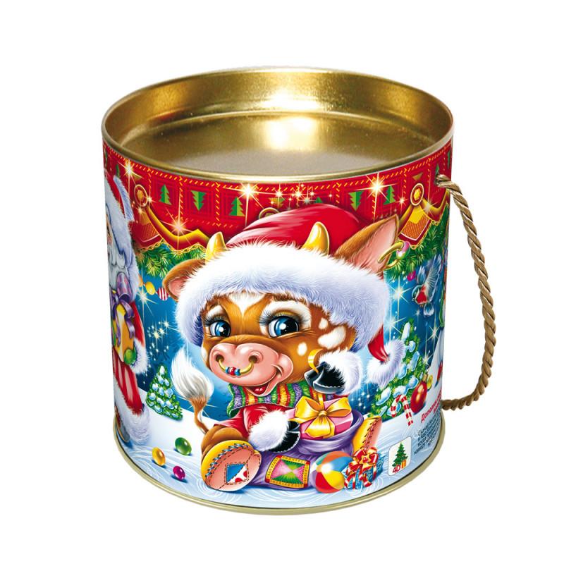 Сладкий новогодний подарок туба Борька
