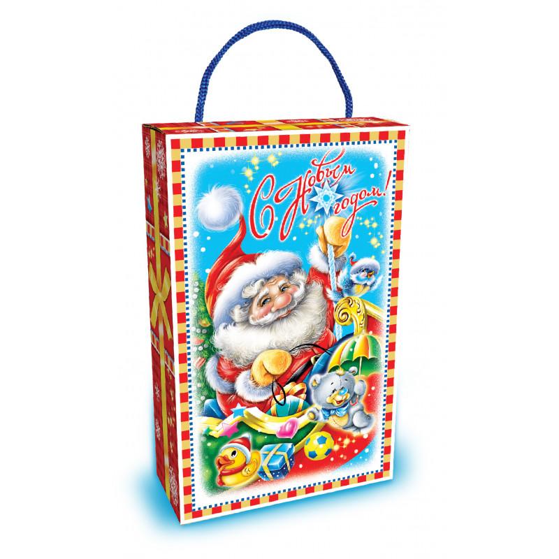 Новогодняя упаковка Дед мороз и зверята