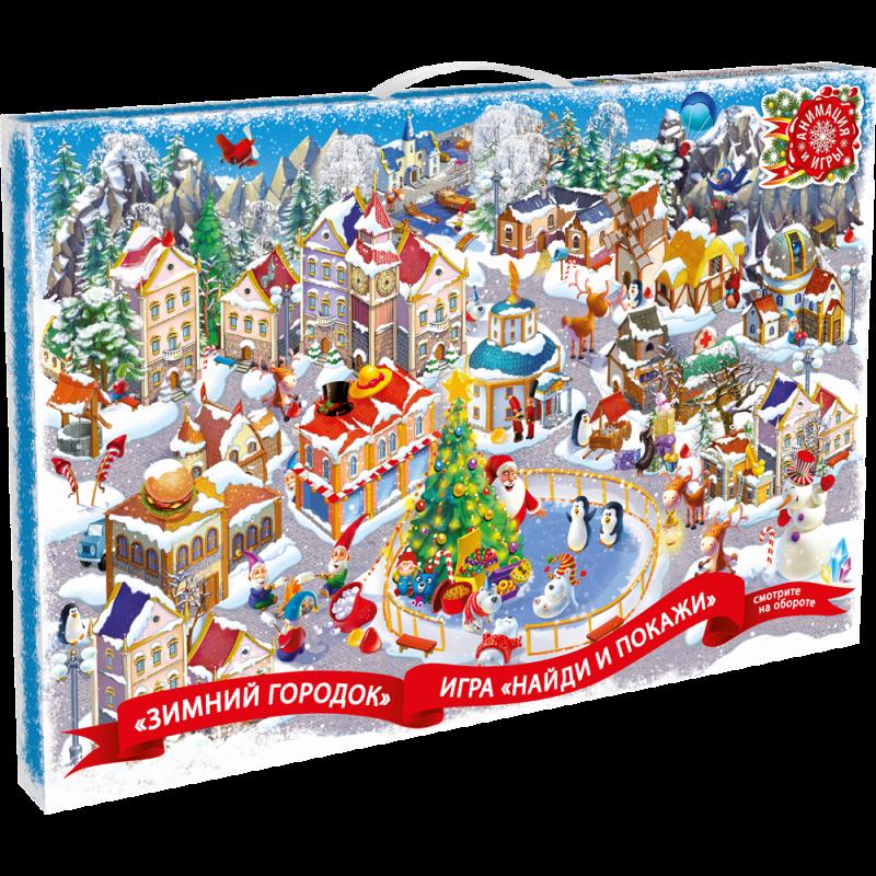 Сладкий подарок Календарь Зимний Город 1000 гр