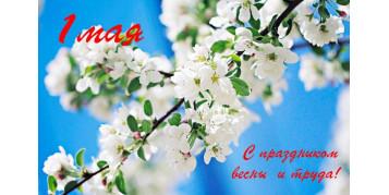 С праздником весны! 1мая!